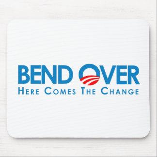 Anti-Obama - curva encima para el cambio Mousepads
