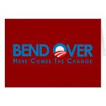 Anti-Obama - curva encima para el cambio Tarjeta De Felicitación