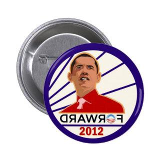 Anti-Obama delantero es posterior Pin Redondo De 2 Pulgadas