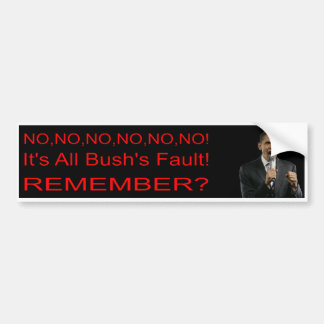 Anti-Obama/Democrat  Bumper Sticker