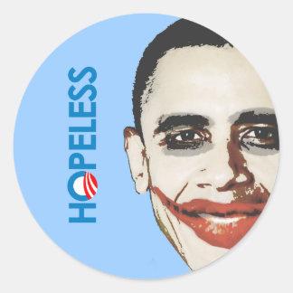 Anti-Obama - DESESPERADO Etiqueta