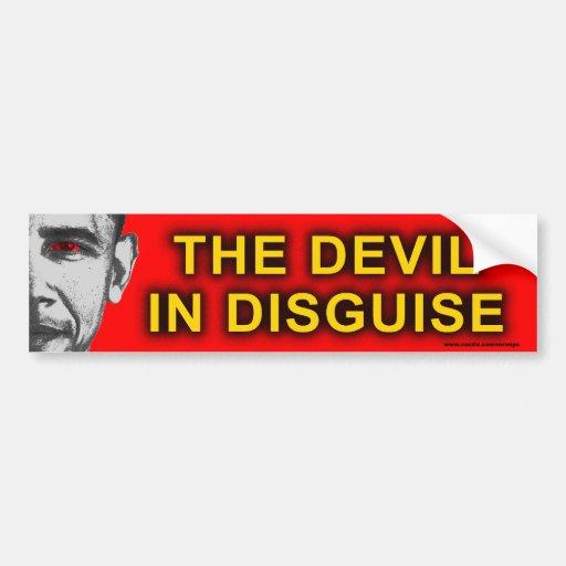 """anti Obama """"Devil In Disguise"""" bumper sticker Car Bumper Sticker"""