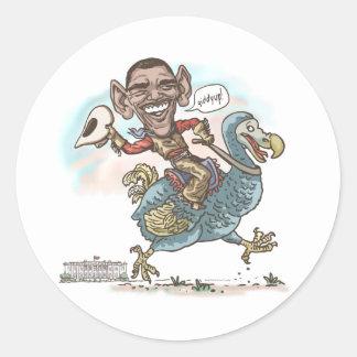 Anti-Obama Dodo Extinction 2012 Classic Round Sticker