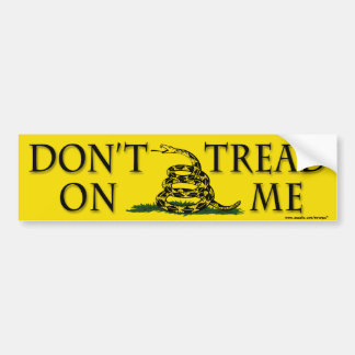 "anti Obama ""Dont Tread Yellow"" bumper sticker"