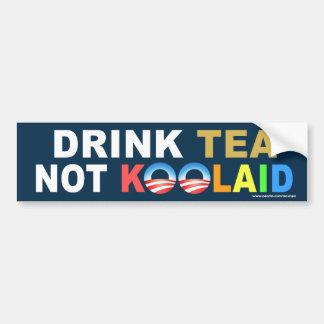 "anti Obama ""Drink Tea Not Koolaid"" Sticker"