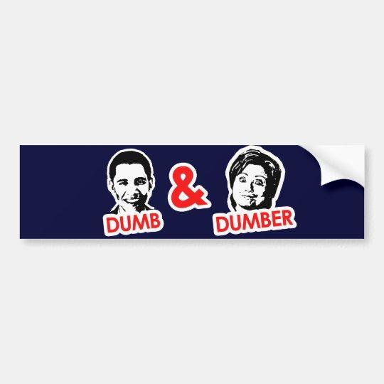 Anti-Obama - Dumb and Dumber Bumper Sticker