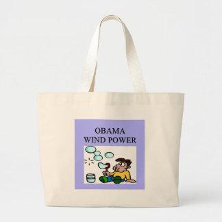 anti obama eat the rcih joke large tote bag