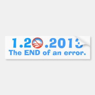 Anti-Obama - el día pasado - el final de un error Pegatina Para Auto