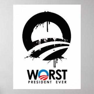 Anti-Obama - el negro peor de presidente Ever Posters