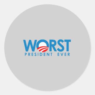 Anti-Obama - el presidente peor Ever Pegatina