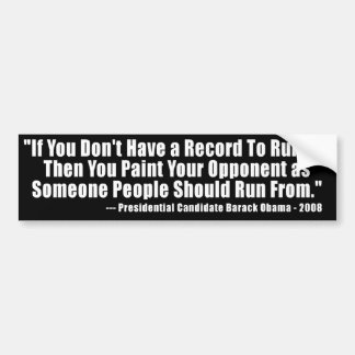 Anti Obama Election Quote Bumper Sticker