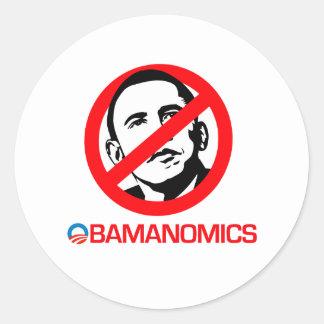 Anti-Obama - End Obamanomics Sticker