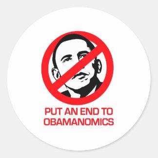 Anti-Obama - End Obamanomics Round Stickers