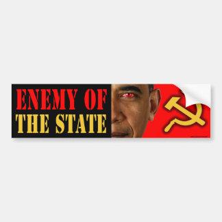 """anti Obama """"Enemy Of The State"""" bumper sticker Car Bumper Sticker"""