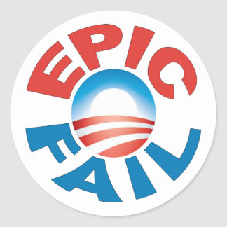 Anti-Obama Epic Fail stickers