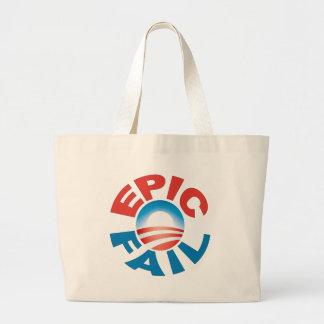 Anti-Obama Epic Fail tote Bag