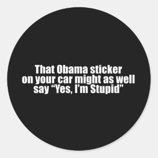 Anti-Obama - ese pegatina de obama pudo también