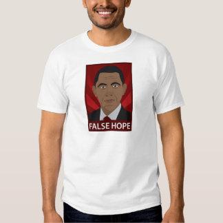 Anti-Obama: Esperanza falsa Remeras
