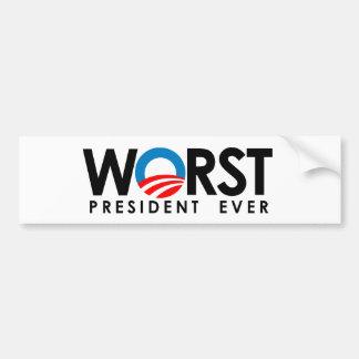 Anti-Obama - esperanza que él falla Pegatina Para Auto
