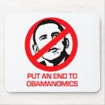 Anti-Obama - extremo Obamanomics Alfombrilla De Ratones