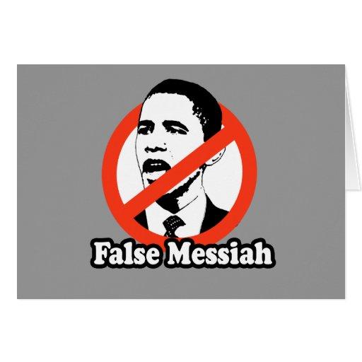 ANTI-OBAMA / FALSE MESSIAH T-SHIRT CARDS