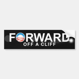 Anti Obama - Forward - off a clif Bumper Sticker