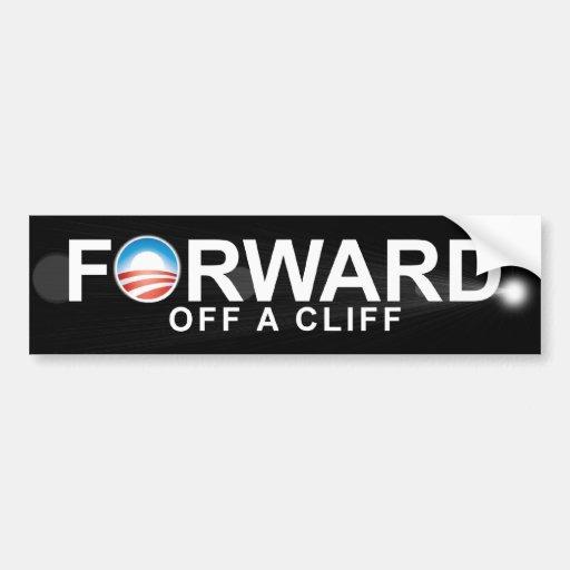 Anti Obama - Forward - off a clif Car Bumper Sticker