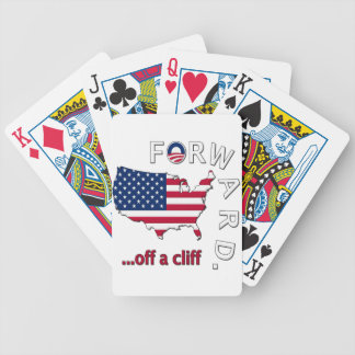 Anti Obama Forward Off The Cliff Bicycle Playing Cards
