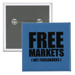 Anti-Obama - Free Markets not Freeloaders Button