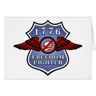 Anti-Obama Freedom Fighter Card
