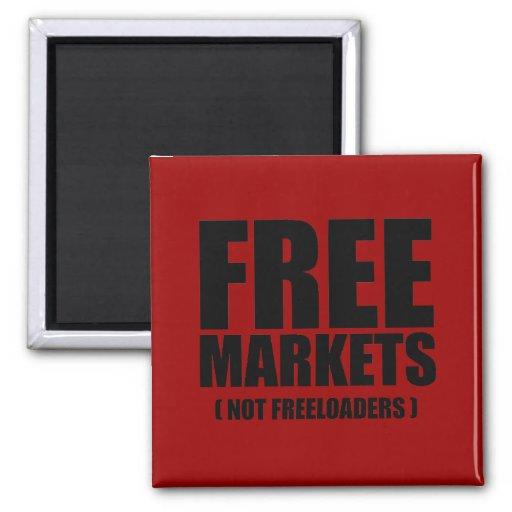 Anti-Obama - Freeloaders de los mercados libres no Imán Cuadrado