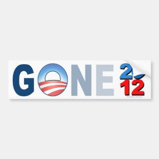 """anti Obama """"Gone 2012"""" sticker Car Bumper Sticker"""