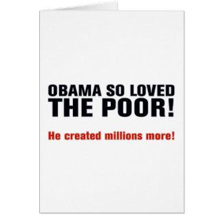 Anti Obama Greeting Card