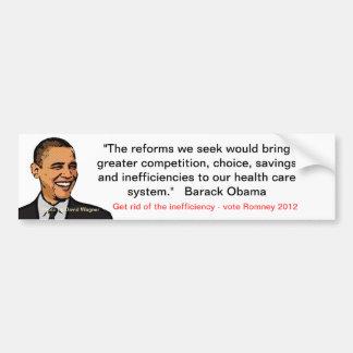 Anti-obama/healthcare Car Bumper Sticker