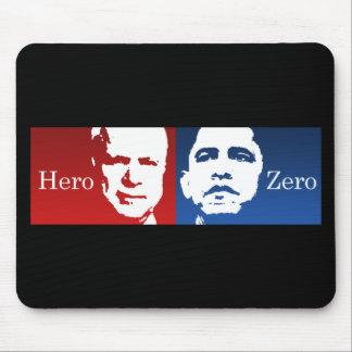 Anti-Obama - héroe contra cero Alfombrillas De Ratones