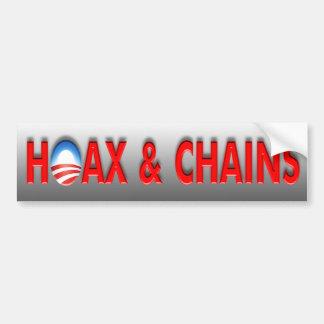 Anti Obama Hoax & Chains Bumper Sticker