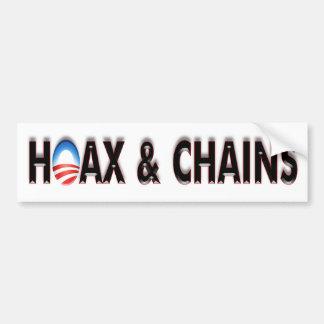 Anti Obama Hoax & Chains Bumper Sticker Car Bumper Sticker