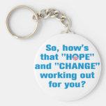 """Anti Obama """"Hope"""" and """"Change"""" Keychain"""