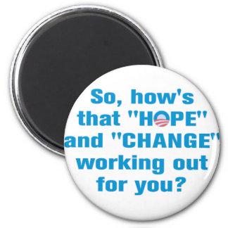 "Anti Obama ""Hope"" and ""Change"" Magnet"