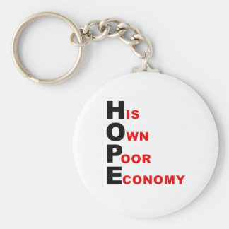 Anti-Obama - HOPE - His Own Poor Economy Keychain