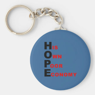 Anti-Obama - HOPE - His Own Poor Economy Key Chains