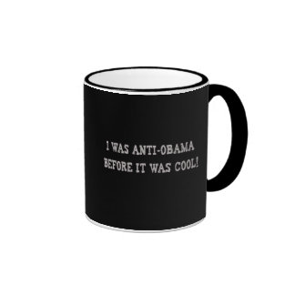 Anti-Obama Humor Ringer Coffee Mug