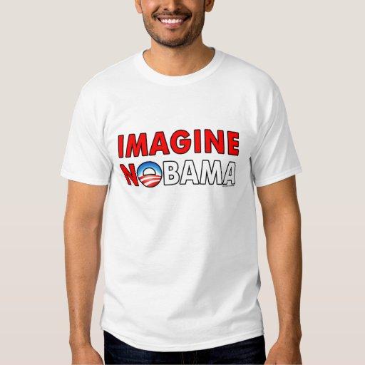 """anti Obama """"Imagine Nobama"""" T-shirt"""