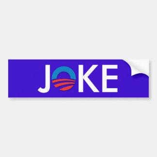 Anti obama joke bumper sticker car bumper sticker