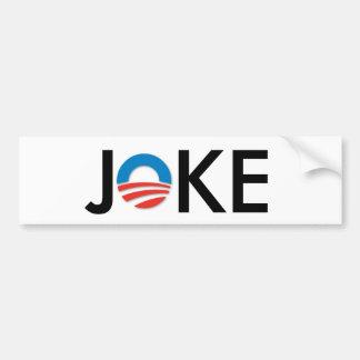 Anti-obama joke bumper sticker car bumper sticker