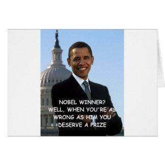 anti obama joke card