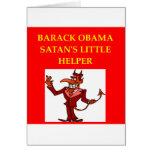 anti obama joke greeting card