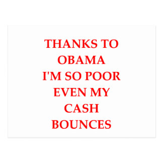 anti obama joke postcard