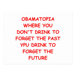 anti-obama joke postcard