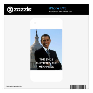 anti obama joke decal for the iPhone 4S